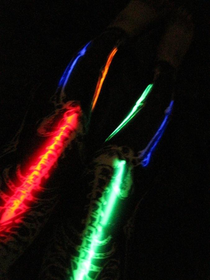 black milk glow sticks